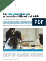 La implementación y transferibilidad del ABP - Innavacion Educativa