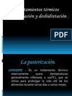 Pasteurización y Deshidratación
