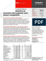 Nomura Hartalega Valuations Unattractive Due to Keener Competition June 2013