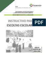 INSTRUCTIVO ESCOLTAS 08-09
