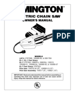 Remington Chainsaw Model 100015 - Manual