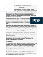 Formas de Gobierno y Sus Constituciones