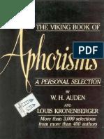 [W. H. Auden, Louis Kronenberger] Viking Book of Aphorisms