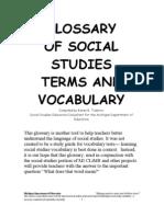 Social Sciences Glossary