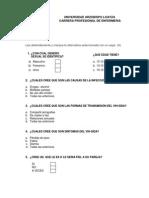 Cuestionario de Vih-sida