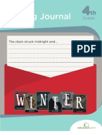 Winter Writing Journal Workbook