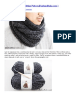 Easy Striped Cowl Knitting Pattern