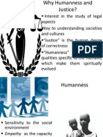 Humanness and Justice