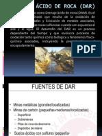 DRENAJE ÁCIDO DE ROCA (DAR)