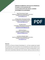 Evaluación de 360 en Ambientes Virtuales de aprendizaje