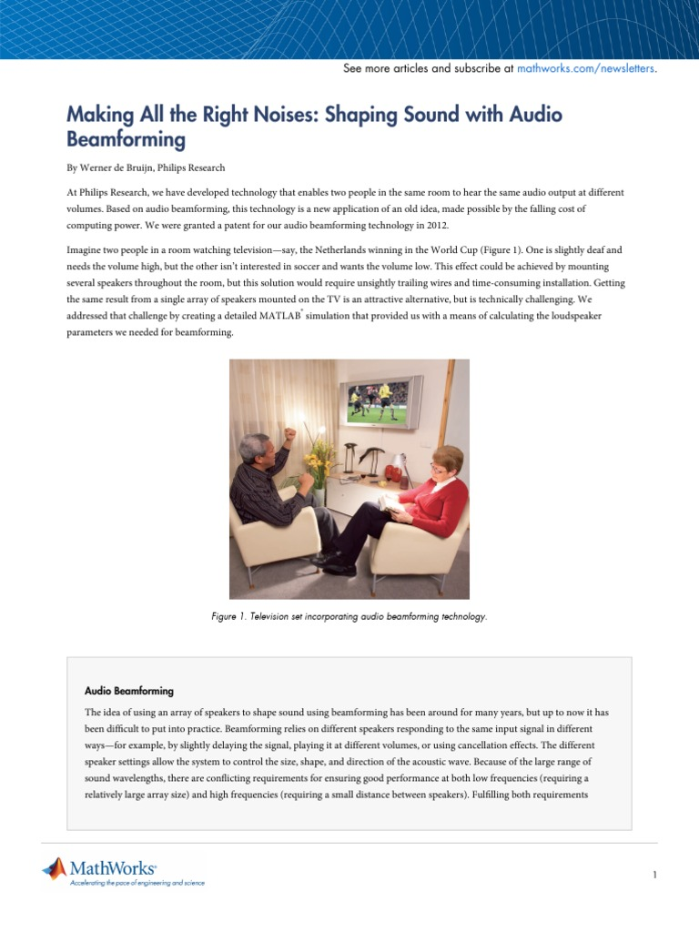 Making the Right Noises Shaping Sound With Beamforming | Loudspeaker