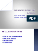 Danger Signs of Labor