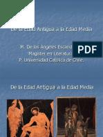 De La Edad Antigua a La Edad Media