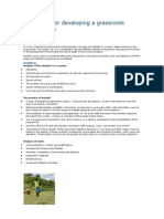 Guidelines for Developing a Grassroots Football Plan