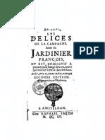 Nicolas de Bonnefons - Les délices de la campagne