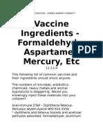 Vax Ingredients