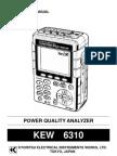 Manual Analizador de Red 6310 KYORITSU