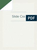 Slide Css
