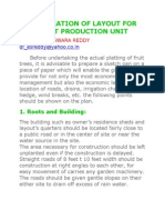 Preparation of Layout for Fruit Production Unit