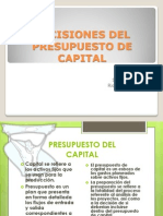 Decisiones Del Presupuesto de Capital