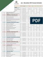 course schedule jul - dec 2013 sheq asat19jul