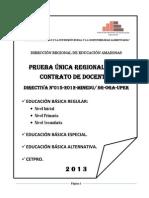Prueba Con Soluciones - Inicial Primaria Secundaria