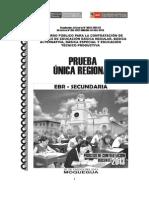 Prueba Contrato Docente 2013 Moquegua Secundaria