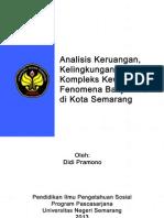 Analisis Keruangan, Kelingkungan, dan Kewilayahan terhadap Fenomena Banjir ROB di Kota Semarang