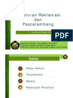 Peraturan Reklamasi Dan Pascatambang_Yogya 20 Juni 2012