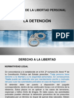 La Detencion (Privacion de La Libertad Personal)