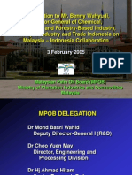MPOB Delegation Indonesia