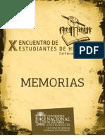 141157042 Memorias X Encuentro Estudiantes Historia UNAL MED