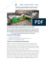 How to form a completed copper ore mining processing line?