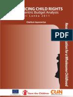 Child Centric Budget Analysis (CCBA)