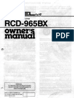 Rotel Rcd965bx English user's guide