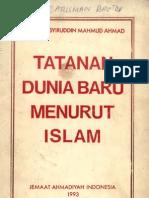 Tatanan Dunia Baru Menurut Islam-mirza Basyiruddin Mahmud Ahmad r.a.