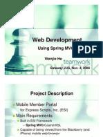 Web Development Using Spring MVC