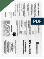 Flyer for CSUF RN to BSN Program