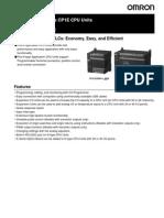 Datasheet PLC OMRON CP1E