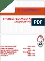 Strategi Pelayanan Kebidanan Di Komunitas