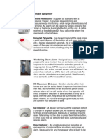Overview of Telecare Equipment
