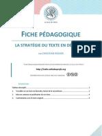 Fiche pédagogique - La stratégie du texte en désordre - Christian Rodier