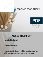 Escolar Stationery - Cost Accounting