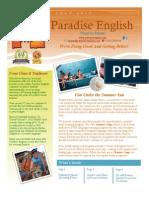 Paradise English July 2013 Newsletter