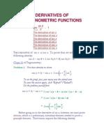 1.Derivatives of Trigonometric Functions