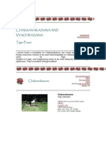 Chakravakasana and Vyaghrasana