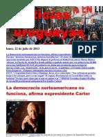 Noticias Uruguayas Lunes 22 de Julio Del 2013