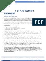2011 Audit of Anti Semitic Incidents