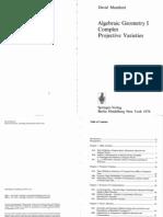 Mumford - Algebraic Geometry I - Complex Projective Varieties (1976)