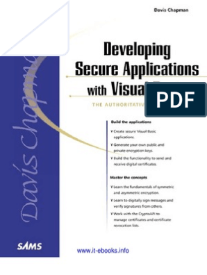 Developing Secure Applications With Visual Basic   Key
